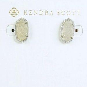 Kendra Scott  Silver Iridescent Drusy Earrings